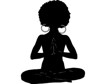 Image result for Afro painting meditating