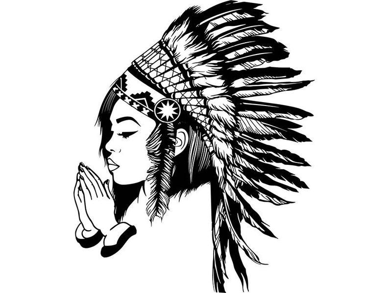 Indian Woman Cherokee Headdress Native Traditional Mascot | Etsy