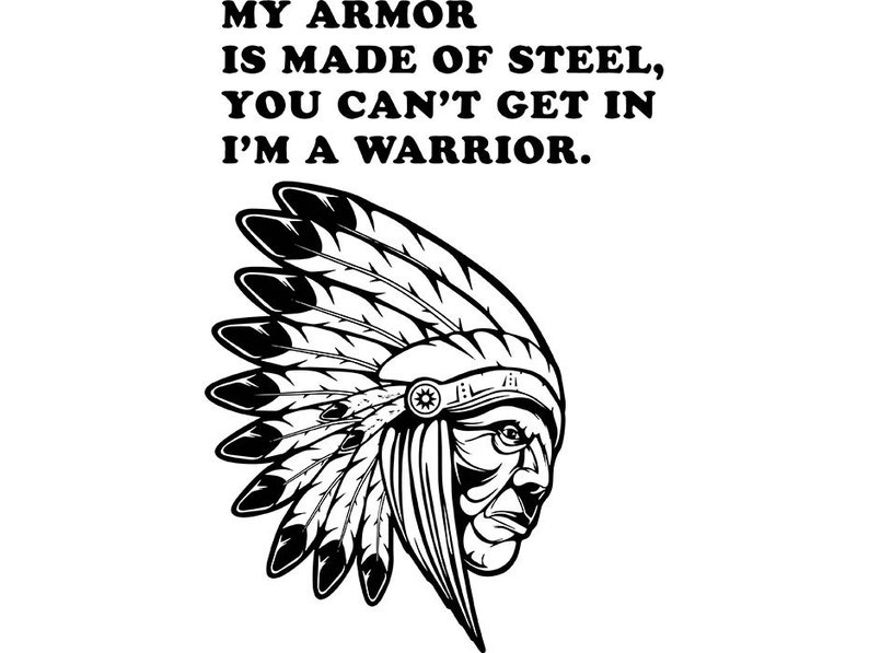 Cherokee Indian Native Traditional Mascot Feather Warrior Tattoo Tribe  SVG   EPS  PNG Vector Clipart Digital Download Circuit Cut Cutting