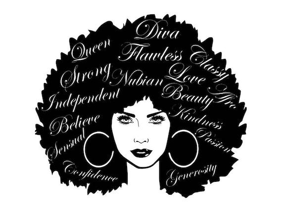 Black Women Nubian Princess Queen Afro Hair Beautiful ...