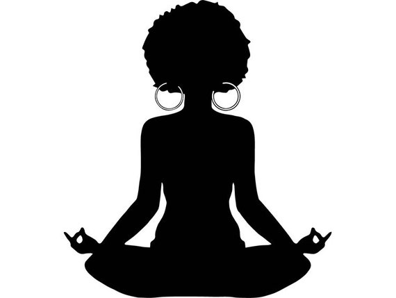 Yoga Zen Like Afro Woman Relax Tranquility Meditation God Etsy
