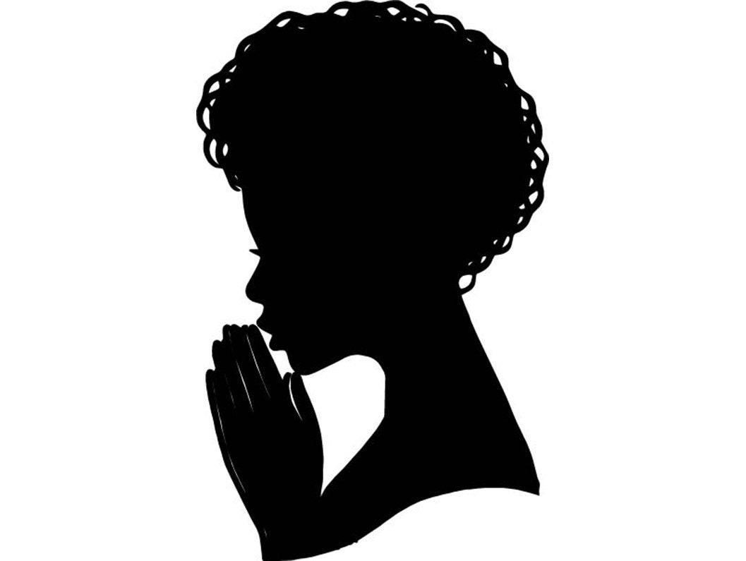 Black Queen Praying Woman Silhouette Afro Nubian Princess ...