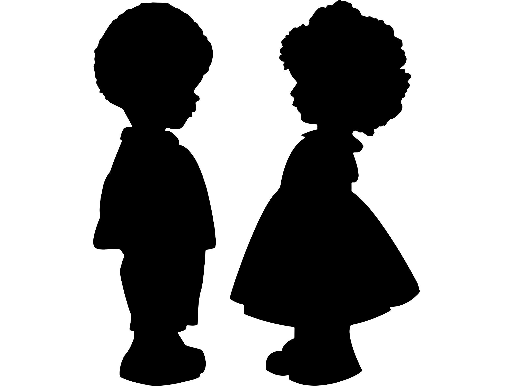 Afro Little Girl Boy Afro Hair Style Ethnicity Etsy