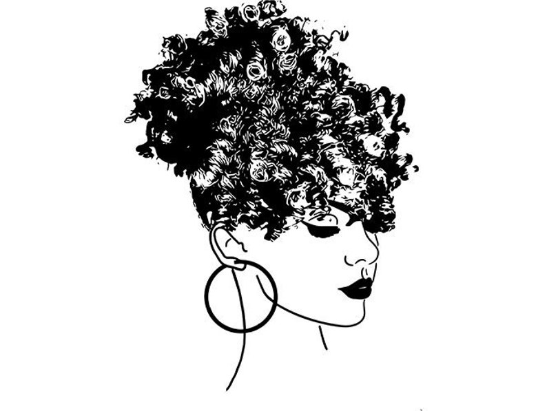 Afro Woman Afro Puff Hairstyle Nubian Princess Queen Hair Etsy