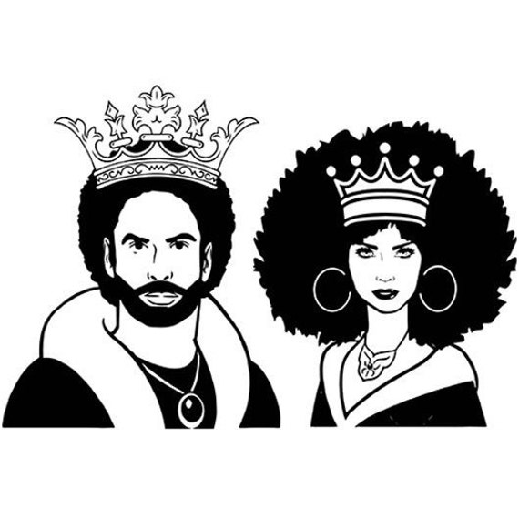 King Queen Nubian Afro Womanman Afro Hair Beautiful Couple Etsy