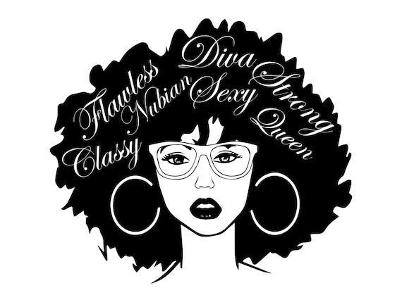 Download Afro Woman SVG Nubian Princess Black Queen Hair Beautiful ...