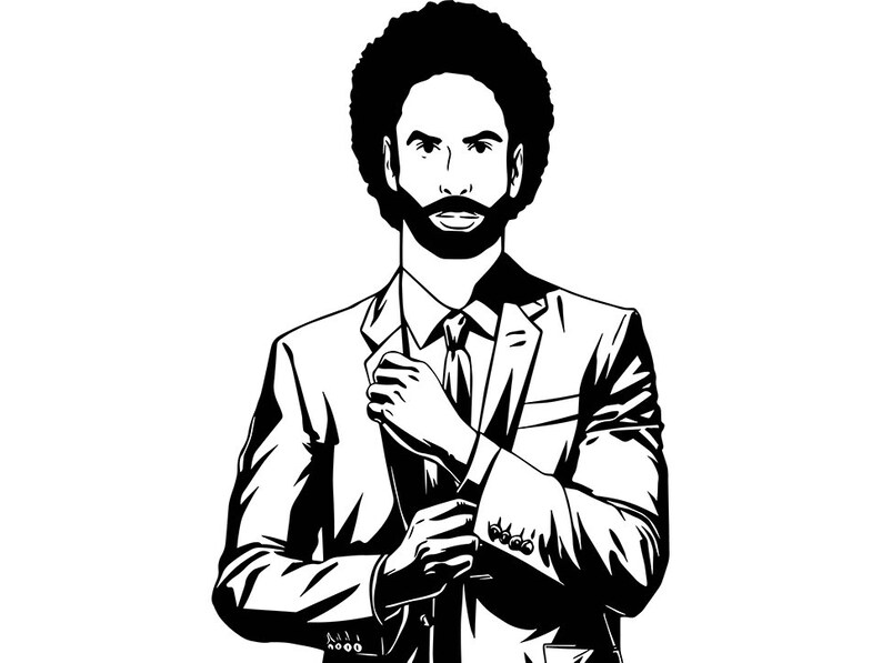 Black Man Business Suits Class Boss King Manager Afro Hair