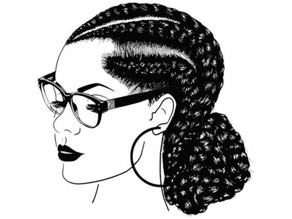Afro Woman Svg Princess Queen Braids Hair Beautiful