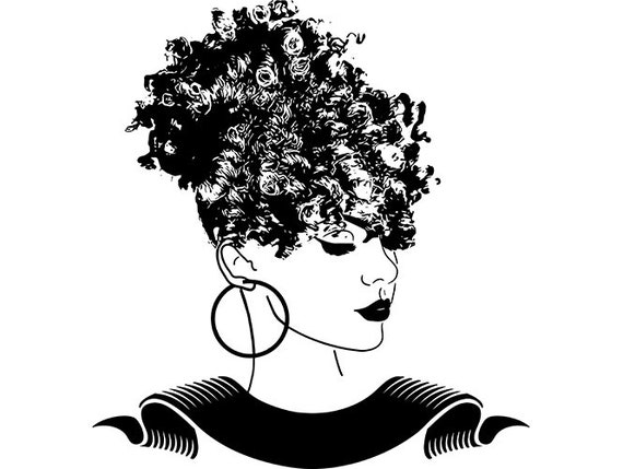 Afro Womanafro Puff Hairstyle Nubian Princess Queen Hair Etsy