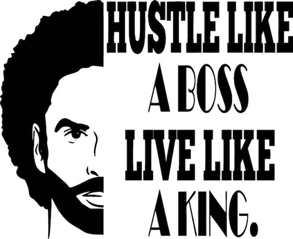 Black King Man Life Respect Quotes Boss Kingdom Afro Hair African American Male Svg Eps Png Vector Clipart Digital Circuit Cut Cutting