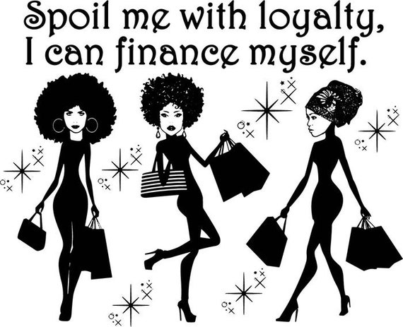 afro womansilhouettes life quotes classy african american diva etsy