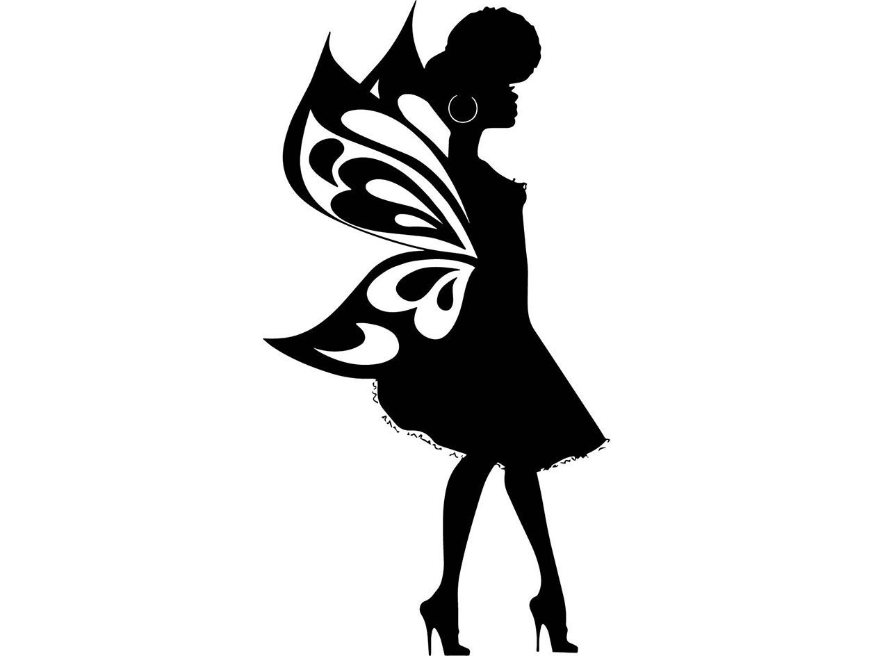afro womanfairy silhouette beautiful glamour classy lady