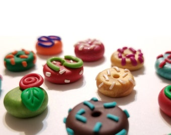 Donut Polymer Clay Charms