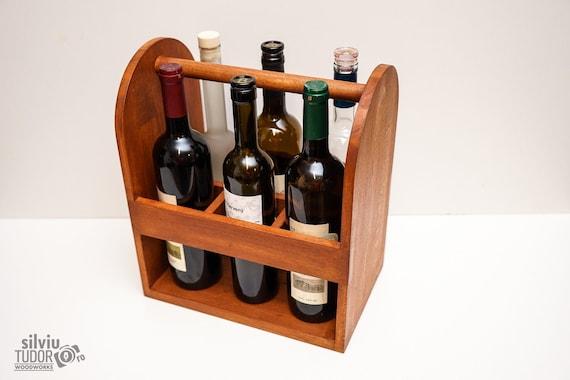 Bottle Caddy Beer Caddy Wine Box Wine Caddy Wine Bottle Etsy