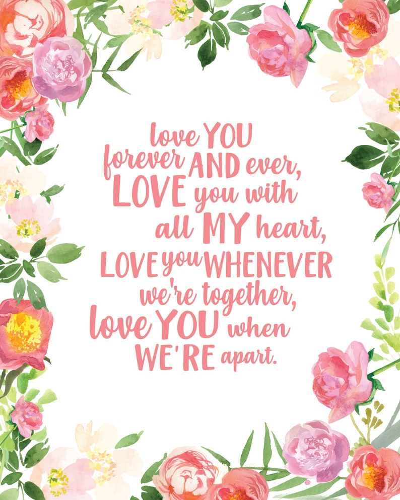 Baby Nursery Art  Beatles Song Lyrics Art  Lullaby Nursery Prints  Nursery  Wall Art  Love You Forever  Lullaby  Baby Girl Nursery Art