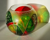Votive Candle Holder Stained Glass Candle Holder Decor Colored glass for home decor