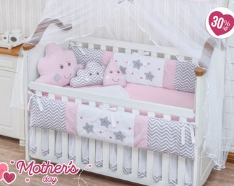 Baby Girl Crib Bedding Set Etsy