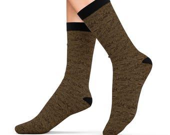 Chocolate Boognish Pattern Socks