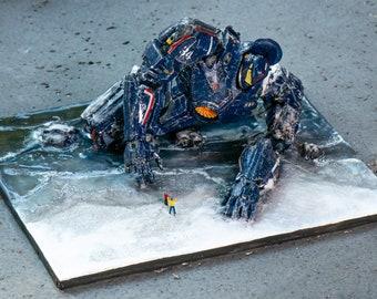 Broken Huge Fighting Robot