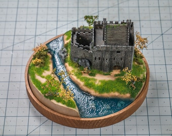 Medieval castle miniature