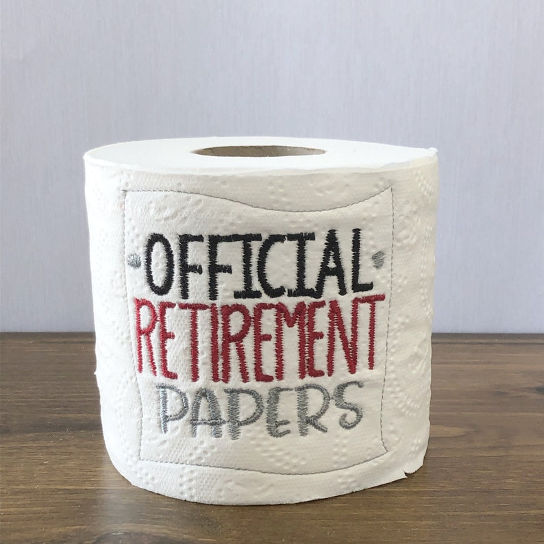 Official Retirement Papers gag gift