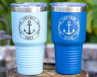 Personalized Boat captain gift - Gift for sailor - Nautical tumbler - Boat tumbler - Captain gift - Sailing gift - Boat gift - Nautical gift