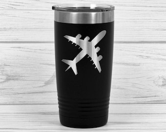 Aviation gifts - Gift for pilot - Airline pilot gifts - Engraved Travel mug - Airplane Stainless steel coffee cup - Airman gifts