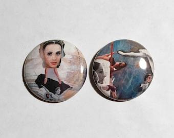 Ballet Collage Art Button - Ballet Pins - Ballet Buttons - Collage Art Pin - Collage Button - Perfection Ballet - Dream Sequence Ballet