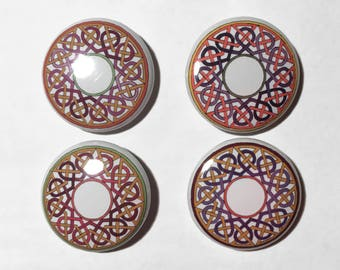 Celtic Knotwork Buttons - Irish Knotwork Pins - Irish Love Badge - St Patrick's Day Buttons - Celtic Pins - Heart Knotwork Buttons