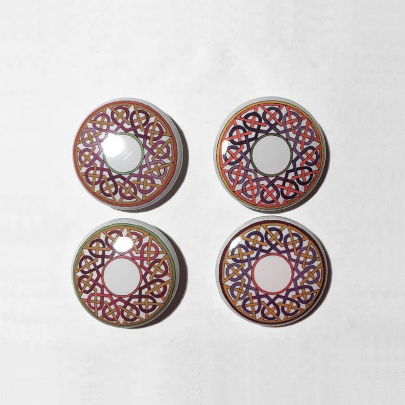Celtic Knotwork Buttons  Irish Knotwork Pins  Irish Love image 0