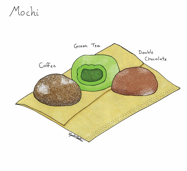 Mochi Print  Inktober 2017 Day 7  Mochi Culinary Art  Food image 0