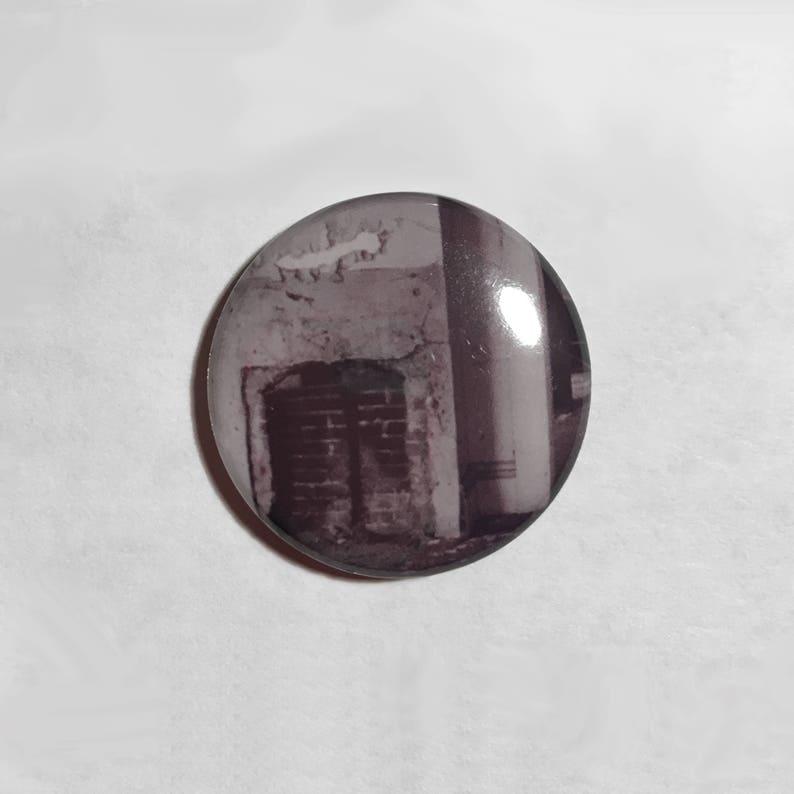 Abandoned House Pin  Creepy Button  Urban Exploration Pin  image 0