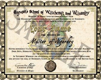 Wizarding School Diplomas