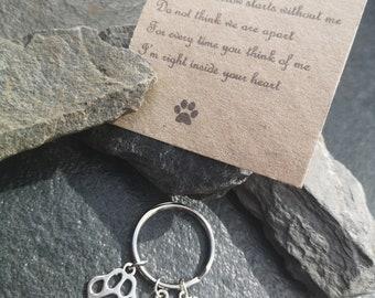 Pet Loss Memorial Keyring Keepsake