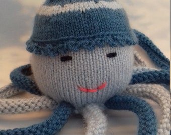 Blanket knitted Octopus