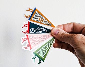 Bookstagram Pennant Sticker