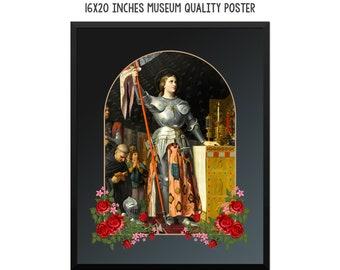 St Joan of Arc - religious poster - catholic artwork - saints serie art print - Saint Joan of Arc - catholic saint