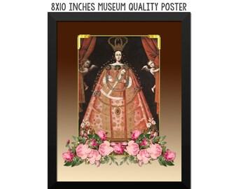 Catholic wall art - Virgin of Belen - religious poster - catholic home decor - Virgin Mary art - Cuzco Art