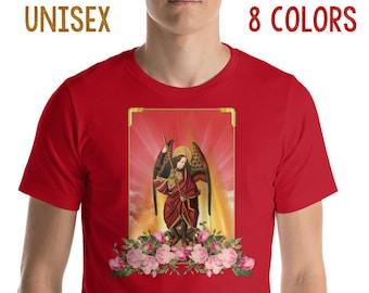 Saint Michael T-Shirt - 8 colors available - Short-Sleeve UNISEX T-Shirt - St Michael T-Shirt - catholic gifts - angels
