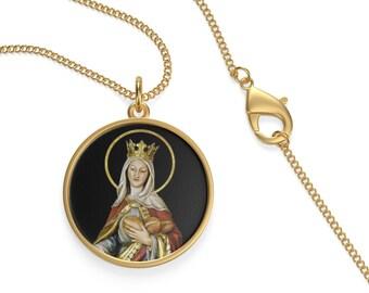 116da0d1c07 Saint Emma Of Lesum - Unisex Necklace - St Emma Necklace - Catholic Saints  Serie - Saints Art - Patron Saint