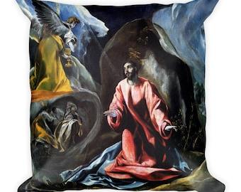 Jesus home decor - Jesus Pillow - Agony in the Garden - religious gifts - christian home decor - christian art