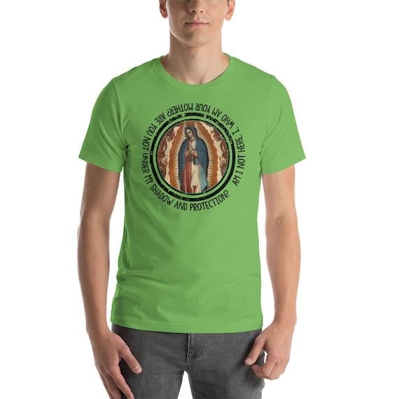 Notre Dame de 9 Guadalupe - 9 de couleurs t-shirt unisexe - Message de la Vierge à St Juan Diego - chemises catholiques - cadeau catholique e7384c