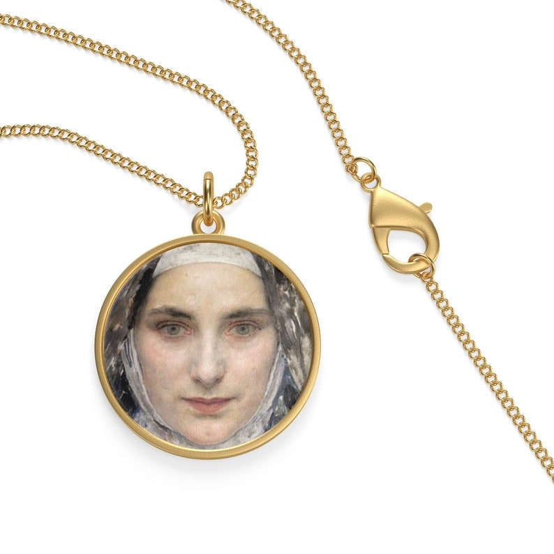 Catholic Jewelry - Saint Therese Of Lisieux - Single Loop Necklace -  catholic saints serie - St Therese - The Little Flower - patron saint
