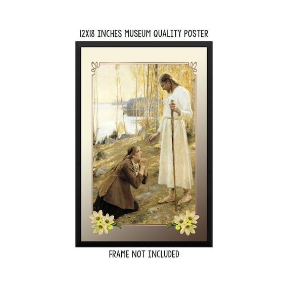 EDELFELT CHRIST /& MARY MAGDALENE Poster Painting Canvas art Prints
