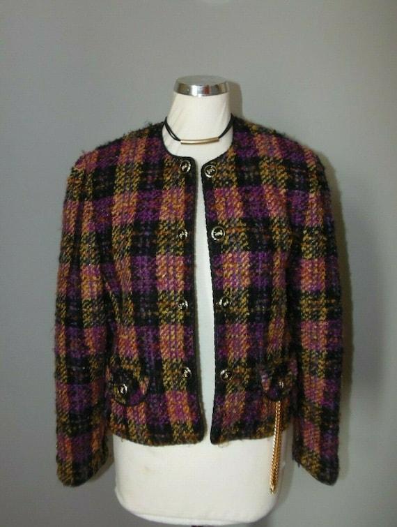 La Mode Smarti style boucle tweed wool & mohair ja