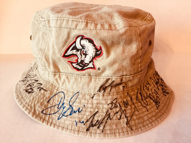 low priced 5ff70 dd610 Buffalo Sabres Autographed Bucket Hat, Buffalo Hockey NHL - Sports  Memorabilia