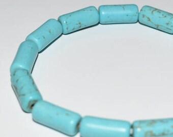 Unique Blue Howlite Beaded Bracelet