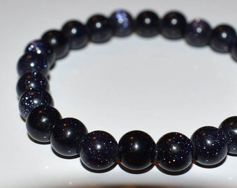 The Stone of Ambition ~ Eye Catching Blue Goldstone bracelet
