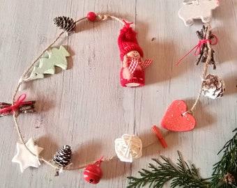 Christmas Pine Cones Garland Etsy