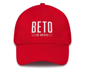 66e89f8465a08 Beto O rourke For America Hat - Beto 2020 Embroidered Cotton Cap